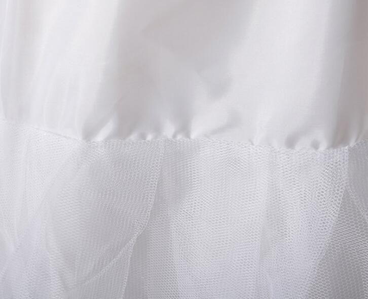 Hoops A Line White Petticoat Wedding Dress Crinoline Petticoat