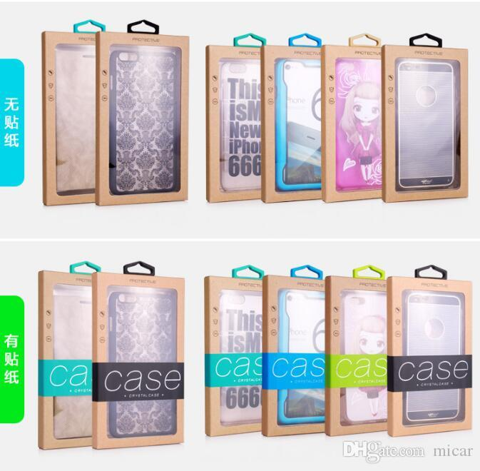 Mobile phone shell packaging box Custom Made Retail Packaging Box Karft Paper Packaging Holster for iphone 7 7 Plus Samsung Galaxy S5