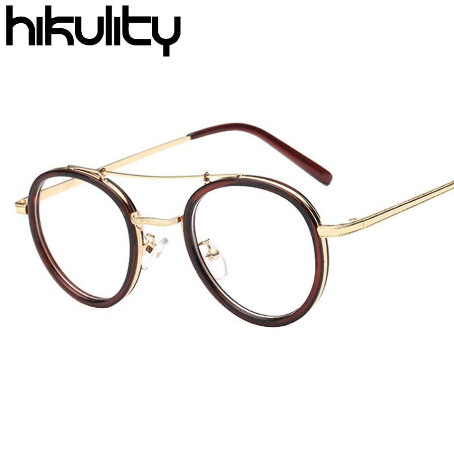 77317eb2a97b 2019 Wholesale Vintage Round Metal Eyewear Frames Men Eyeglasses Retro  Clear Lens Glasses Frame Optical Spectacle Frame Clear Glasses Women From  Jutie