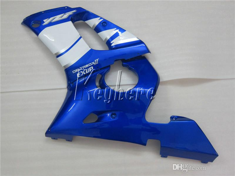 Kit de carénage pièces de rechange pour Yamaha YZR R6 98 99 00 01 02 kit carénage bleu noir YZFR6 1998-2002 HT09
