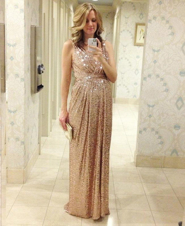 Großhandel Sequins Long Elegant Dress 2017 Neue Frauen Sexy Club ...
