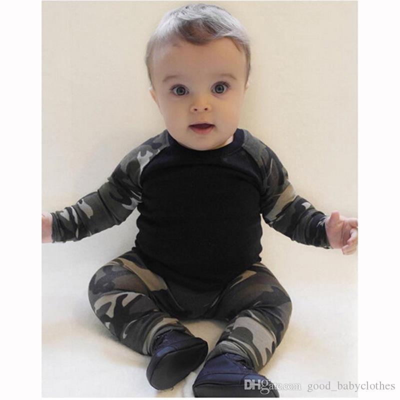 Autunno manica lunga t-shirt in cotone camuffamento vestiti mimetizzati + pantaloni 2 pz bambini vestito bambino abbigliamento set abbigliamento bambini