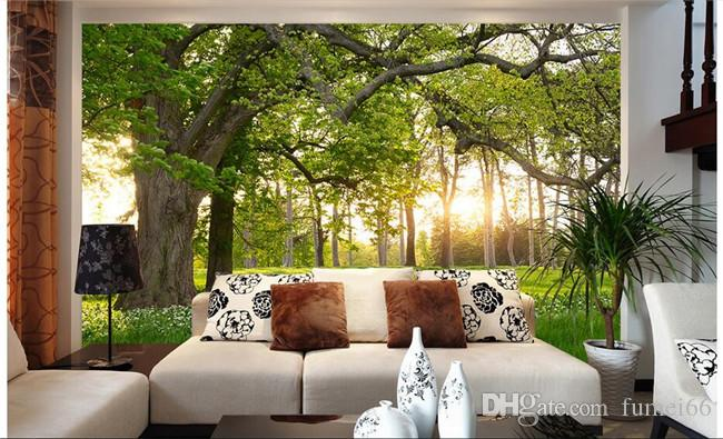 3d wallpaper custom mural non-woven picture The forest park TV setting wall painting photo wallpaper for walls 3d
