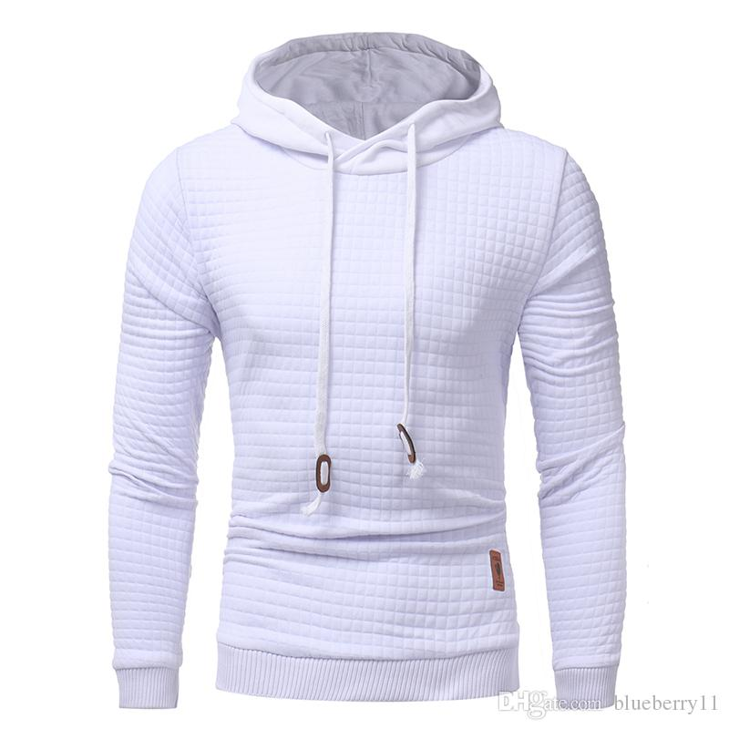 0c2faaf820ac 2019 2017 Mens Winter Hoodies Casual Sweatshirt Hooded Black White Coat  Sweats Pullover Jumper Jacket Fashion Gyms Clothing High Quality M 3XL From  ...