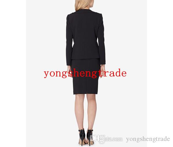 New Arrial Black Skirt Suit Custom Made Business Suits For Women Ruffled Skirt Suit Perfect For Any Occasion