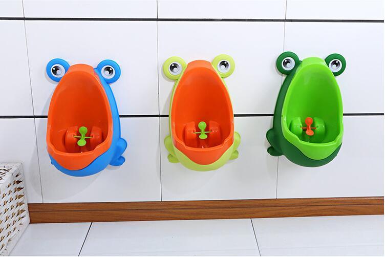 Мультфильм дети лягушка туалет обучение дети писсуар пластик для мальчиков пописать детские горшок настенные дети туалет портативный горшок мальчик писсуары