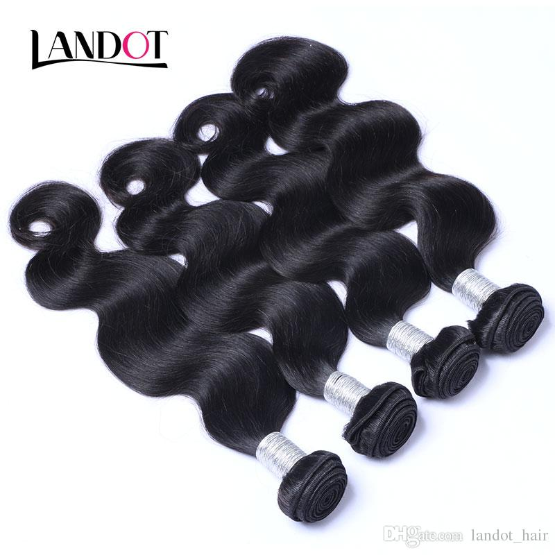Brazilian Body Wave Virgin Human Hair 4 Bundles with Top Lace Closures Malaysian Peruvian Indian Cambodian Wet And Wavy Mink Remy Hair Weave