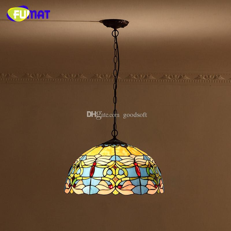 Fumat blue goldfish lamp shade pendant lamp european baroque stained fumat blue goldfish lamp shade pendant lamp european baroque stained glass kitchen lights bar living room led pendant lights hanging pendants hanging aloadofball Image collections