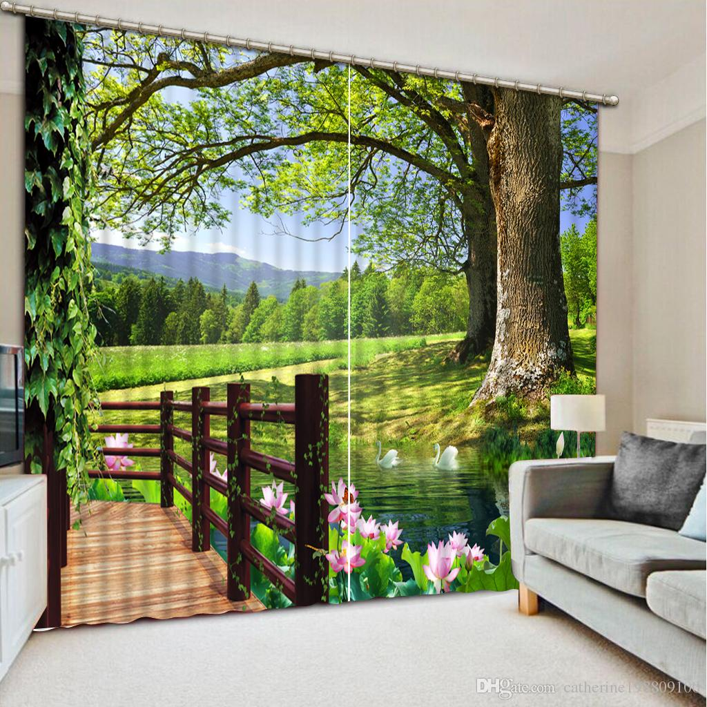 New Custom 3d Beautiful Balcony 3d Curtain Fashion Decor