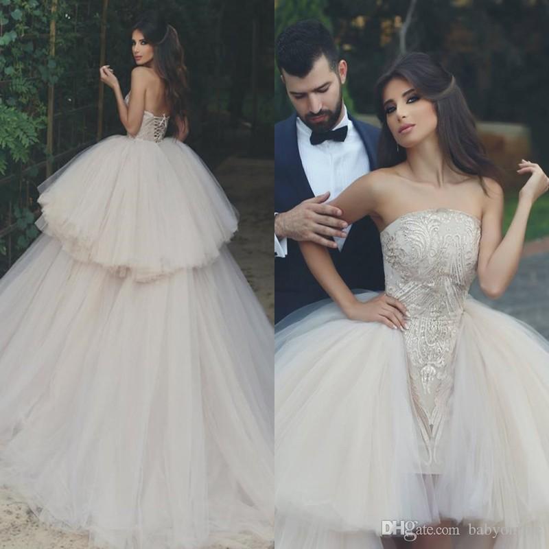Exiquisite Lace Appliqued Sheath Wedding Dresses With Detachable ...