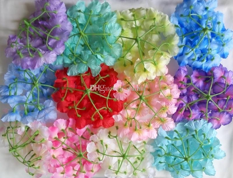 Yapay Çiçekler Ortanca Çiçek Başları Düğün Dekorasyon Malzemeleri Simülasyon Sahte Çiçek Baş Ev Dekorasyonu WX9-69