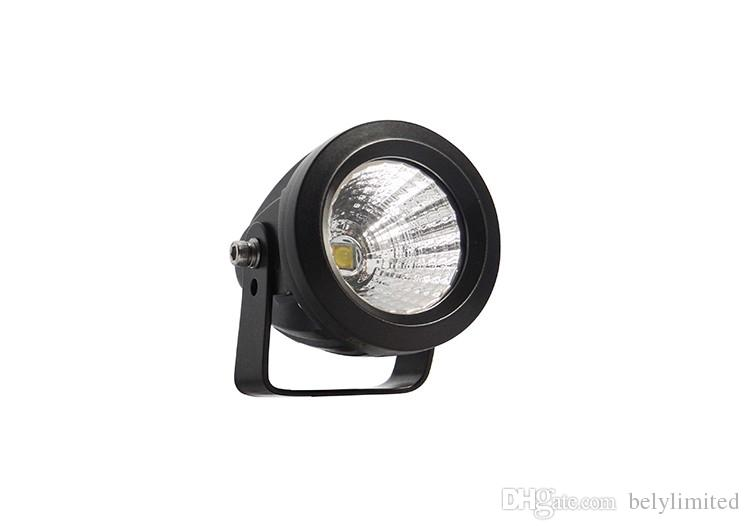 small round waterproof ip68 work led light 25w flood work light for truck car fog driving
