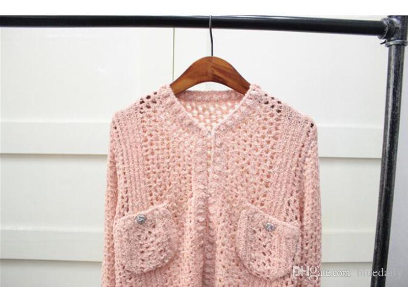 Moda donna maglia lavorata a maglia donne rosa casual cardigan femminile cuba serie donna moda maglione super soft