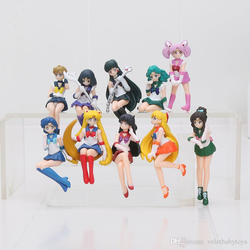 2018 Anime Sailor Moon Action Figures Cup Table Decoration