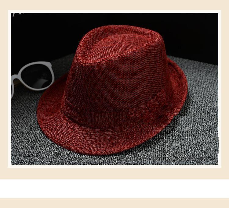 Vogue-Mann-Frauen-Baumwolle / Leinen-Strohhut-weiche Fedora-Panamahüte-im Freien geizige Rand-Kappen 28 Farben wählen
