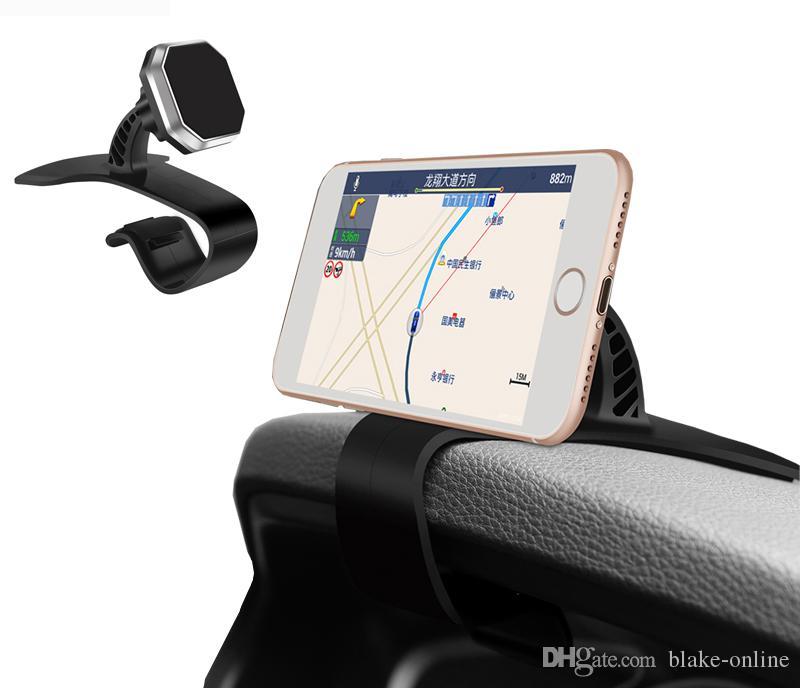 Universal Auto Dashboard Soporte de Navegación GPS Ajustable Teléfono Celular Imán de Coche Holder Clip Soporte Soporte para iphone Samsung Smartphone