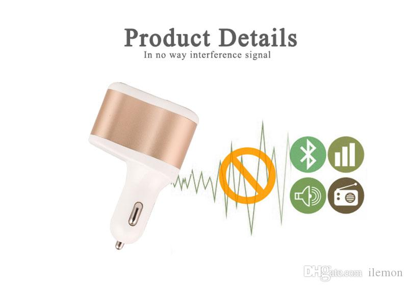 Universal 3 Ports USB Car Charger Adapter Socket 2.4A Fast Charging Multi Feature for Phone Tablet Computer
