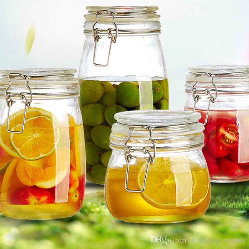 1pc-transparent-glass-jars-seal-jars-grains.jpg  sc 1 st  DHgate.com & Online Cheap Transparent Glass Jars Seal Jars Grains Storage Bottles ...