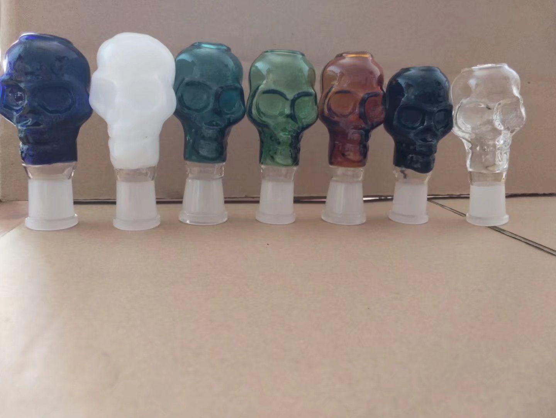 Цветные аксессуары для костей головы, аксессуары для бонгов, уникальная масляная горелка, стеклянные трубки, бонги, водопроводные трубы, стеклянные трубки, буровые установки, курение с капельницей