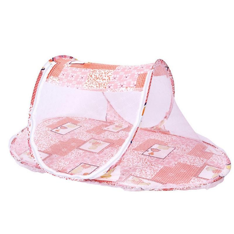 wholesale infant newborn portable baby bed crib folding mosquito net infant cushion mattress baby bed crib netting new baby crib sales cot with tent from