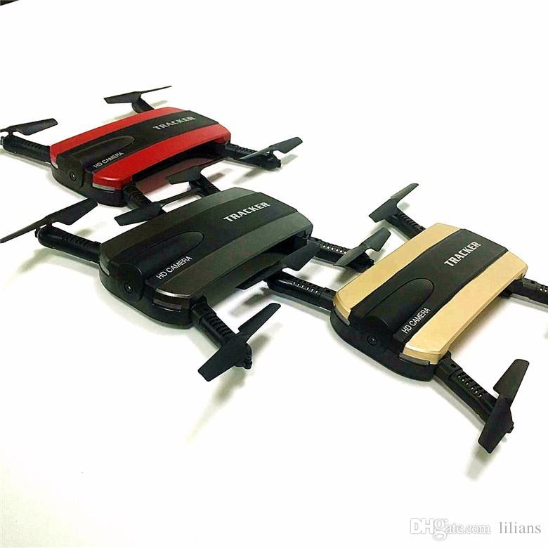 New Arrival Jxd 523 Tracker Foldable Mini Rc Selfie Drone With Wifi Fpv 720p Hd Camera Altitude HoldHeadless Mode Vs Jjrc H37 Helicopter