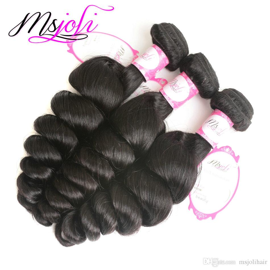 Virgem Cabelo 9A Mink brasileiro Pacotes onda do corpo / brasileiro do cabelo humano Pacotes solto Ondas onda profunda Kinky Cabelo Liso Weave Pacotes