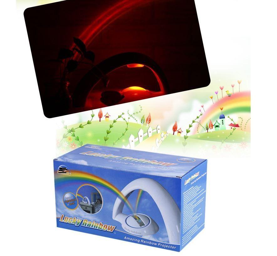 Amazing Baby Kids Children Child LED Rainbow Light Colorful Romantic Christmas Night Light Projector Lamp for Sleeping Bedroom