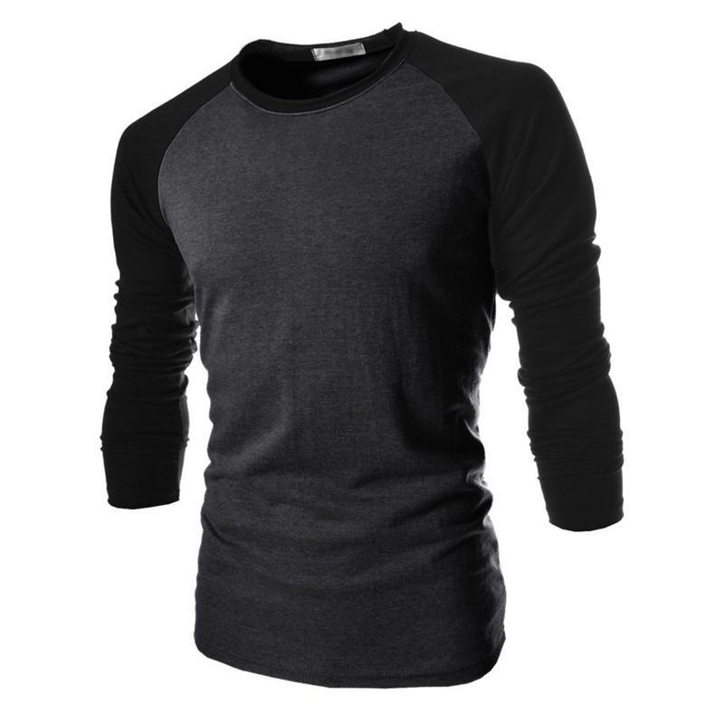 Compre Atacado T Shirt Masculino 2017 Tshirt Cores Misturadas Longo Mangas  Camisa Dos Homens Marca T Shirt Camisas Masculinas Homens Magro T Shirt XXL  De ... aedd1567517