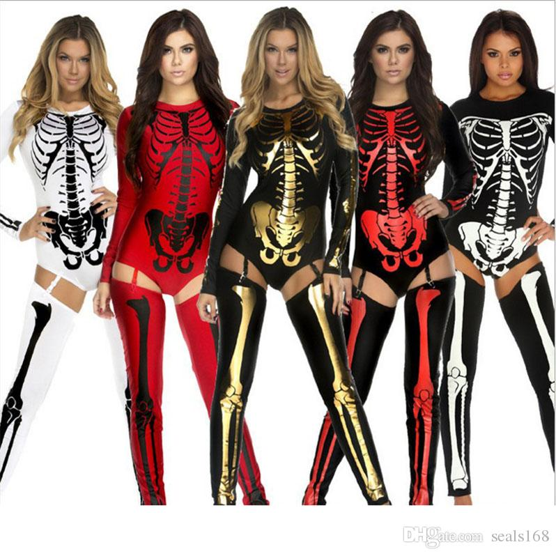 Halloween Costumes For Women 2019.New Halloween Costume Cosplay Skull Witch Vampire Queen Devil Ghost Party Clothing Big Children Women Special Occasions Sexy Clothes Hh C38
