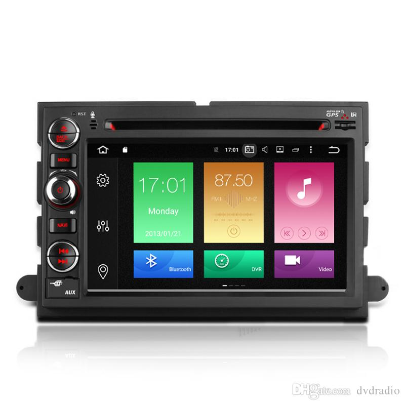 Octa Core Android   System Auto Car Dvd Gps For Ford F Explorer Fusion Edge Expedition Radio Rds Wifi G Obd Dvr Bt G Ram Cheap Dual Screen