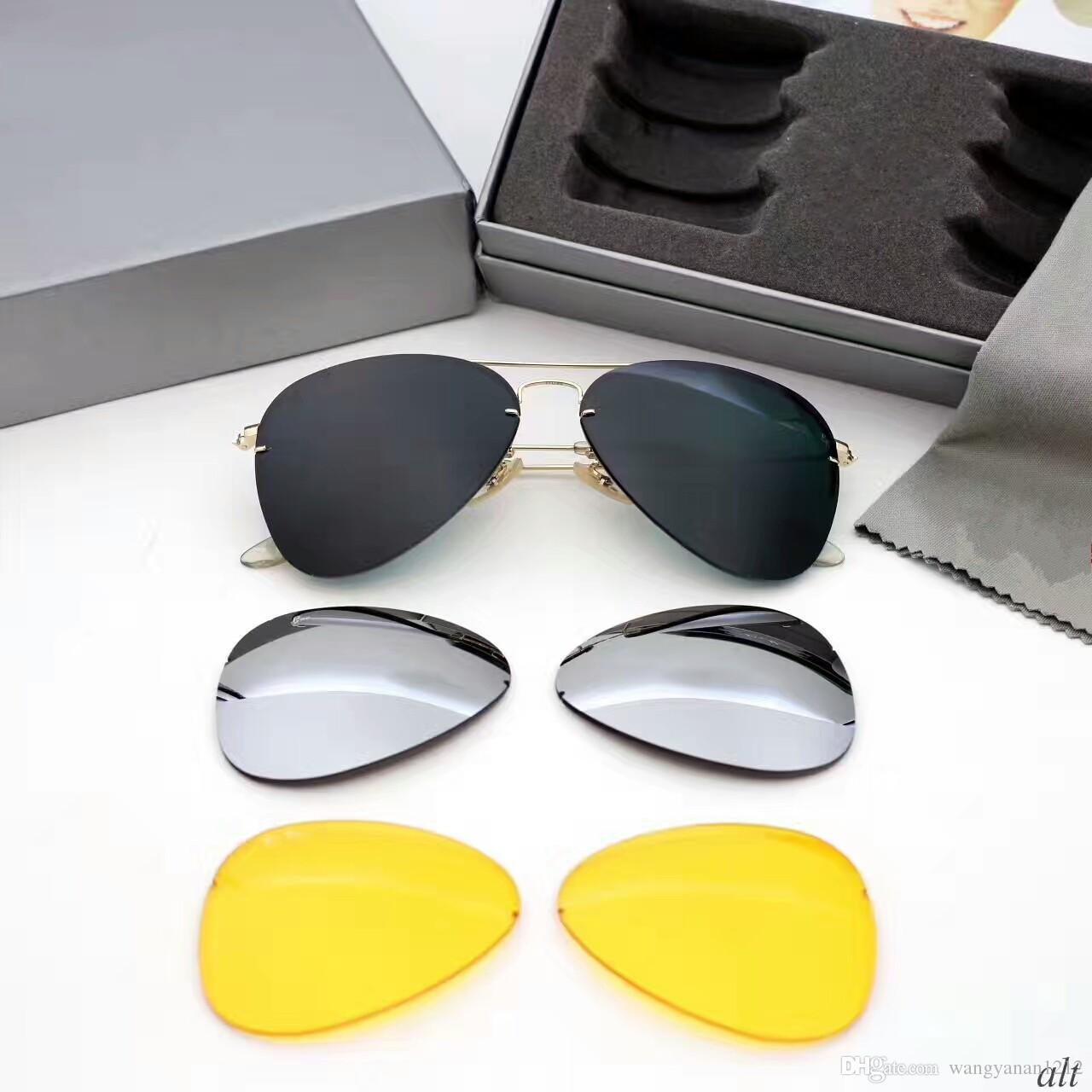 da1738dd92 Compre Nuevas Gafas De Sol De Diseñador 3 Lentes De Sol Para Hombres  Mujeres Gafas De Sol Mujeres Diseñador De Marca UV400 Protección Gafas De  Sol ...