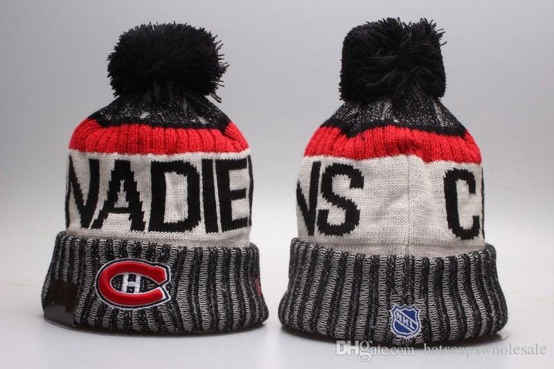 7593cdfac25683 2019 New Montreal Canadiens Vintage Design Knitted Beanies Good Quality  Winter Warm Skull Hats Ice Hockey Pom Embroidery Cuff Beanie Caps Baseball  Hats ...