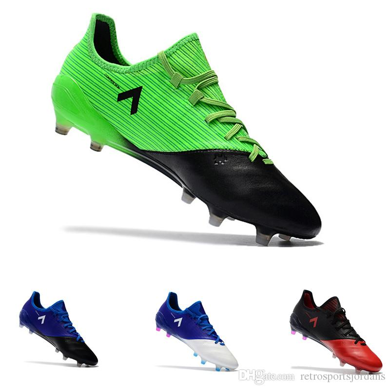 a614ecd27ca Ace 17.1 + PureControl Soccer cleats Kangaroo skin leather Low tops  football boots black green red blue outdoor sports shoes FG