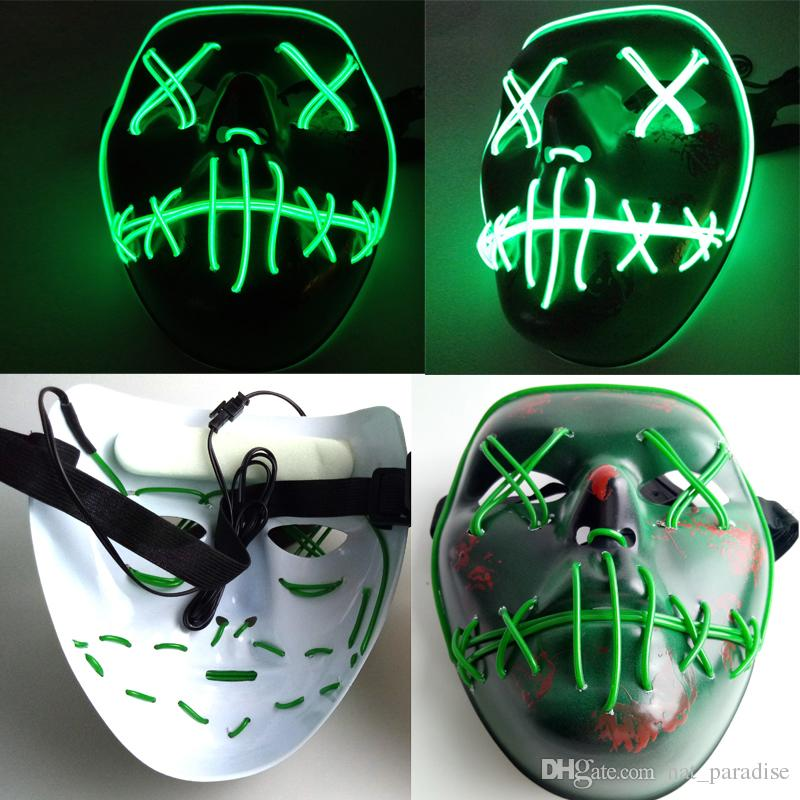 Led Masks The Purge Election Year Mask El Wire Glowing Halloween ...