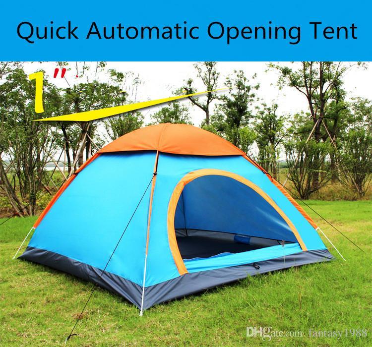 빠른 자동 개방 하이킹 캠핑 텐트 야외 쉼터 자외선 차단 여름 해변 졸업 여행 잔디밭 공원 3-4 명 텐트