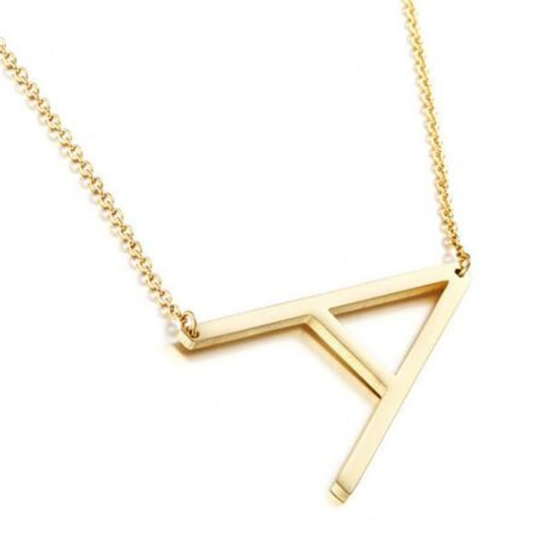2017 Fashion Letters Necklaces Pendants Gold Silver Color Clavicle Chain  Stainless Steel Necklace Women Jewelry Wedding Party Decoration