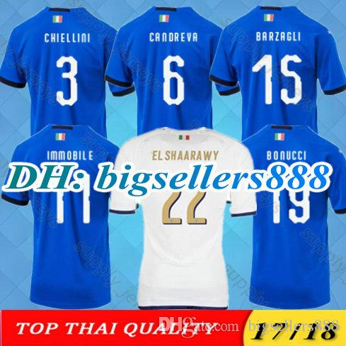 0bf9662ebb6 2019 TOP QUALITY 2018 World Cup Italia Blue Soccer Jersey Italyd CANDREVA  EL SHAARAWY PIRLO BONUCCI INSIGNE IMMOBILE VERRATTI ZAZA Football Shirt  From ...