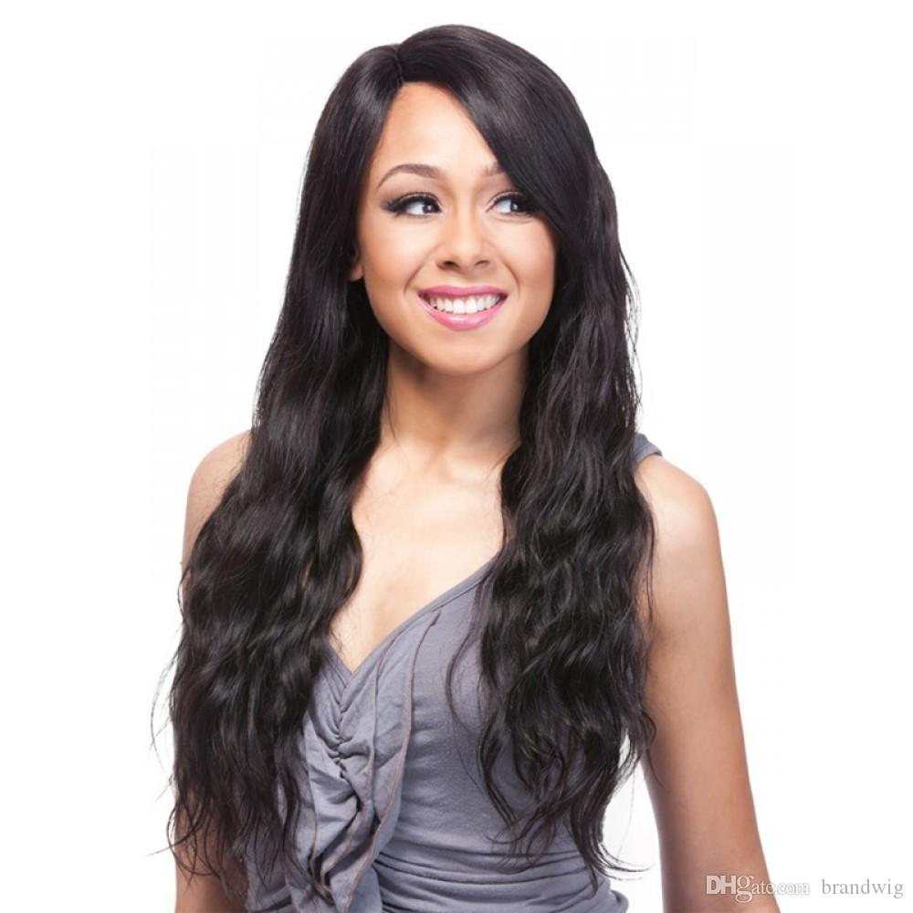 Virgin Peruvian Long Human Hair Wigs Wavy
