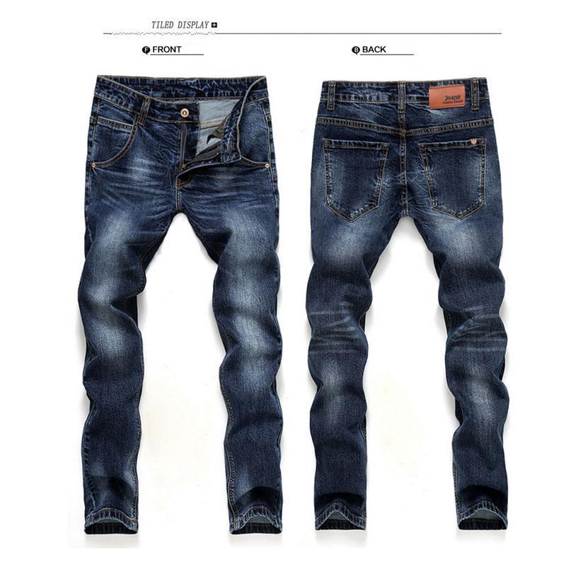 Compre Atacado 2016 Marca Men Jeans Nova Moda Qualidade Alta Hetero Fino  Hetero Homens Calças Jeans Masculino De Honey111 cb11402c4ab