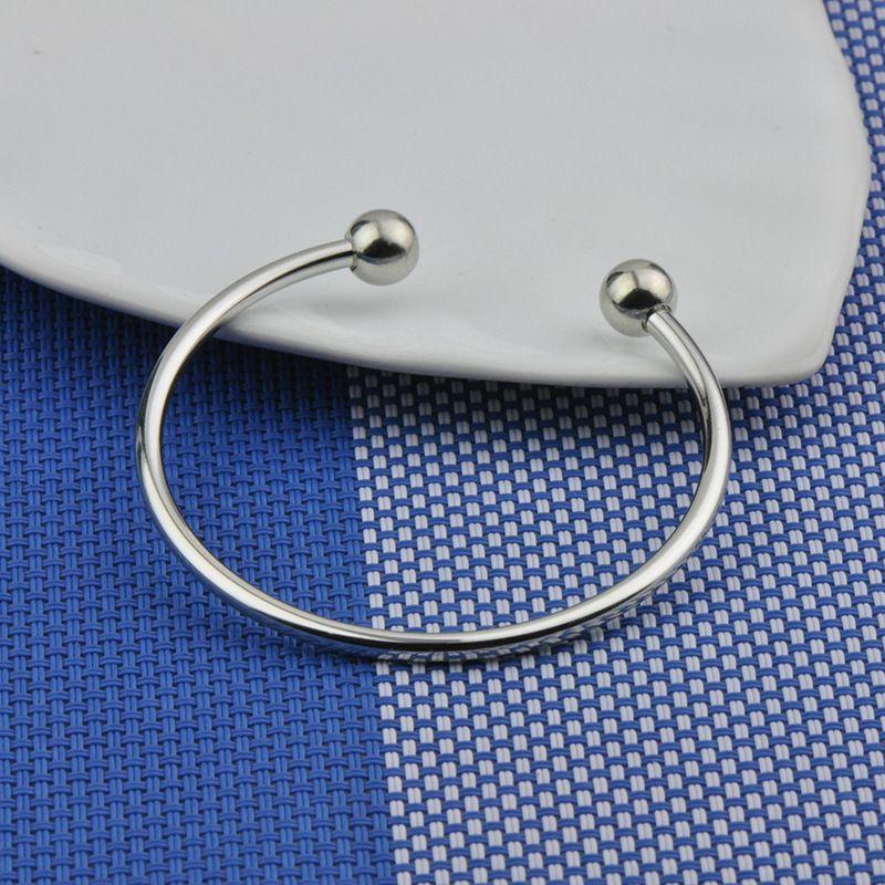 925 Argent Plaqué Bracelet Manchette Femmes 60 MM 65 MM Ouvert Bracelet Fit Européenne Charme DIY Bijoux En Vrac