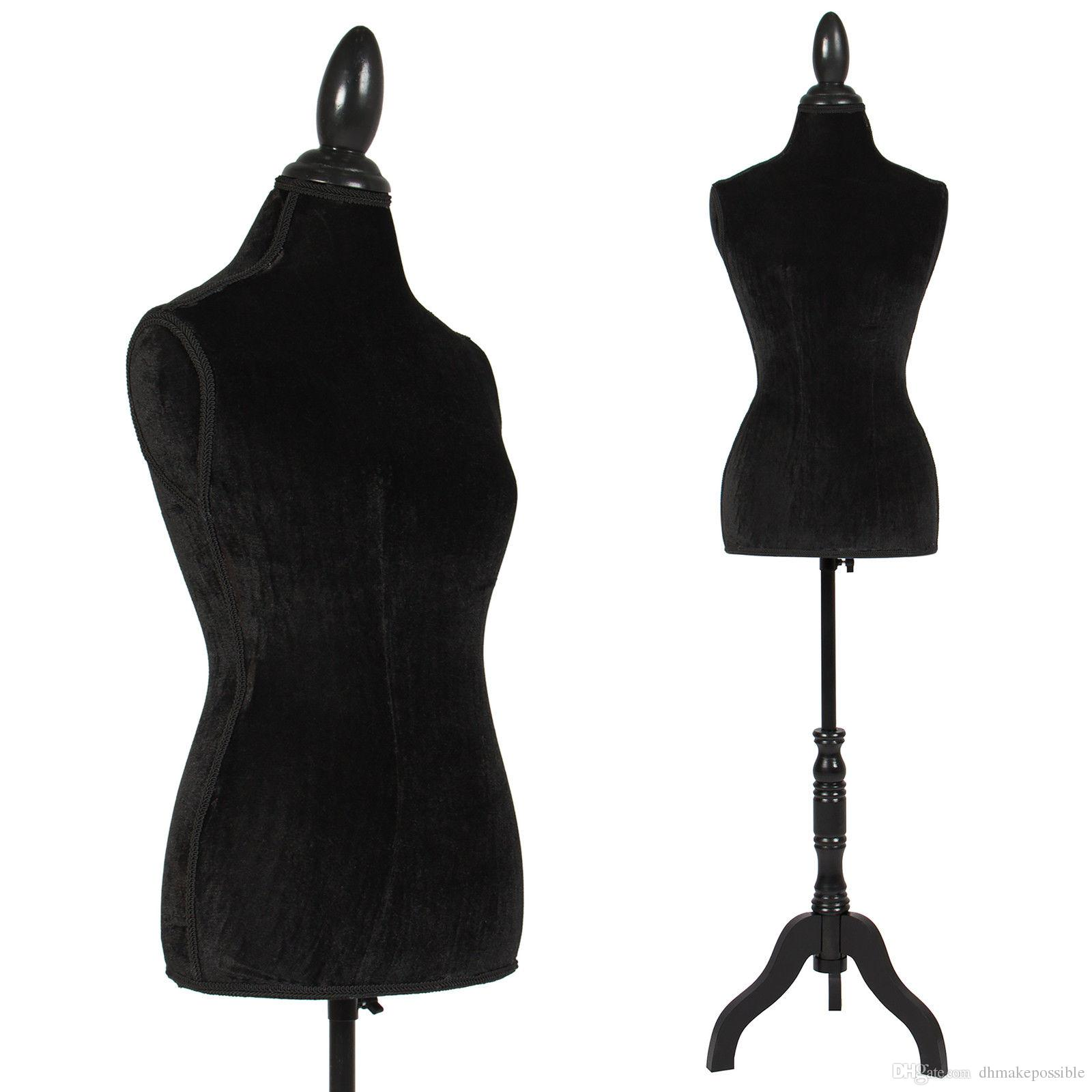 White Female Mannequin Torso Dress Form Display W White Tripod