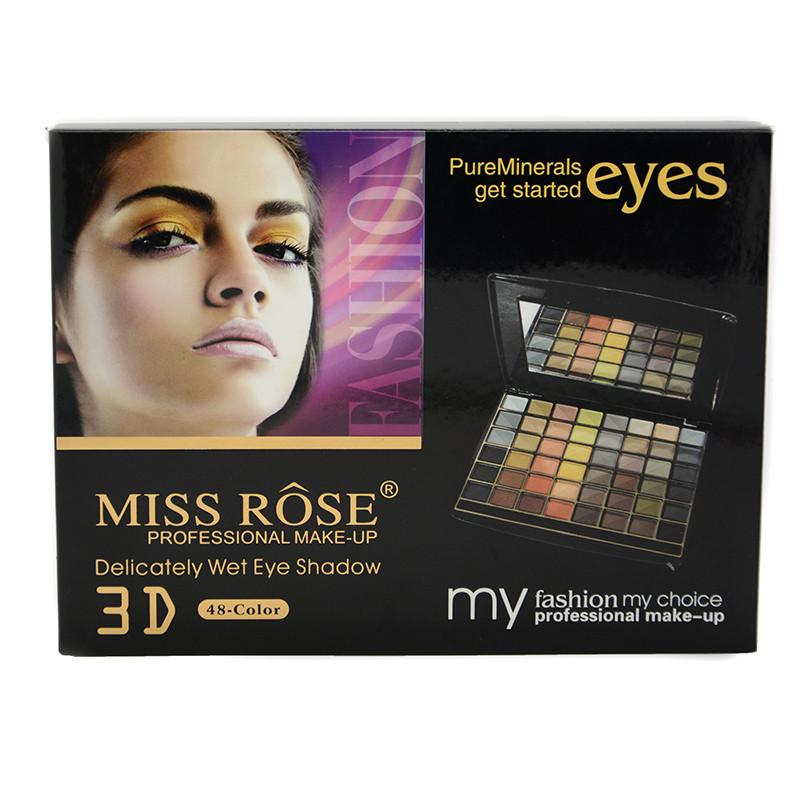 Miss Rose Cosmetic Brand New Eyeshadow Palette Matte Earth Color Eye Shadow Makeup Professional for Women with Brush