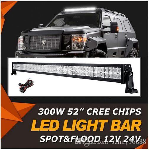 52inch 300w cree chips led offroad light bar combo beam led work 52inch 300w cree chips led offroad light bar combo beam led work lamp bar light for jeep truck suv 4wd pickup 4x4 12v 24v curved led light bar offroad combo aloadofball Choice Image