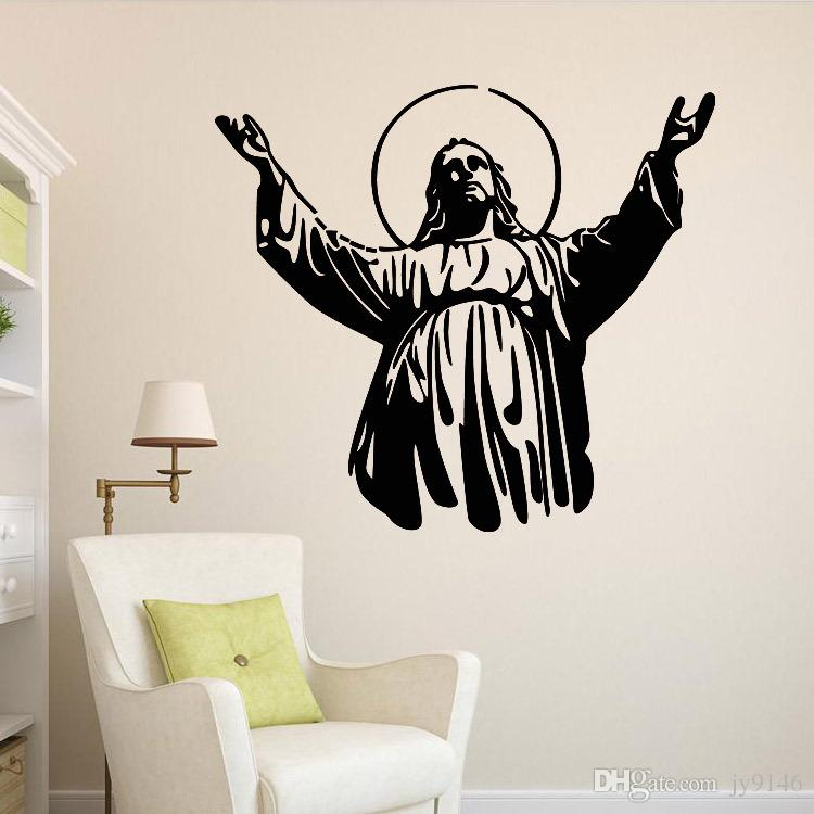 Beautiful Christian Character Jesus Wall Stickers Religion Wall Decal For Living Room  Study Room Home Decoration Religion Wall Decal Christian Character Jesus  Wall ...