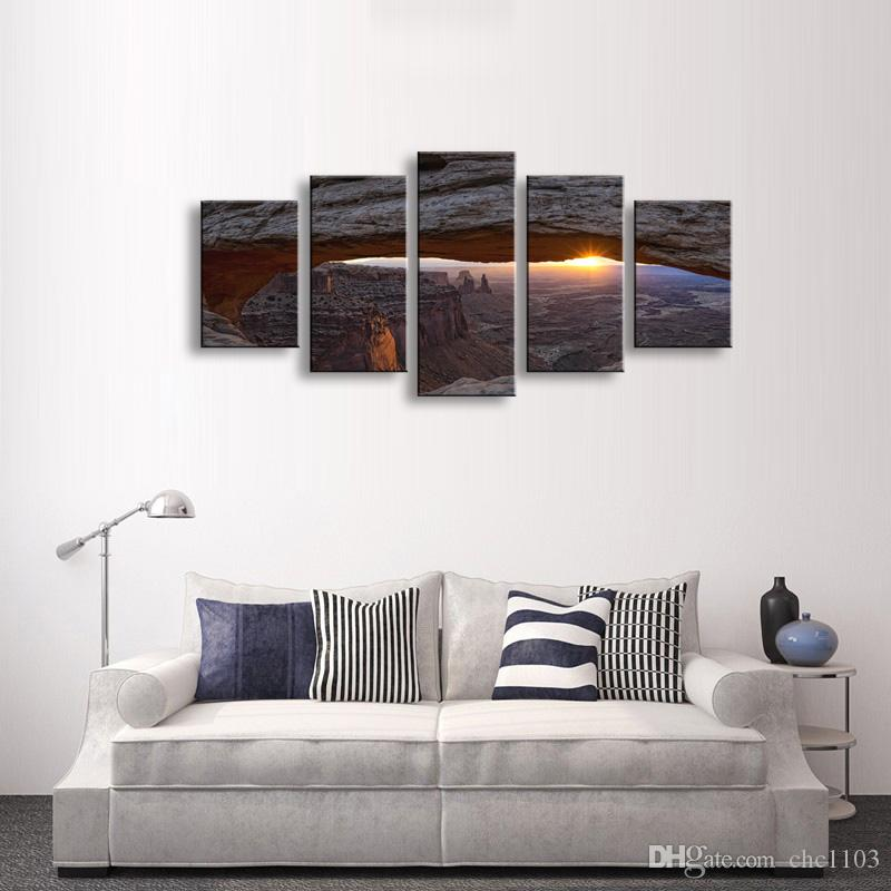 high-definition print landscape canvas oil painting poster and wall art living room picture PL5-139