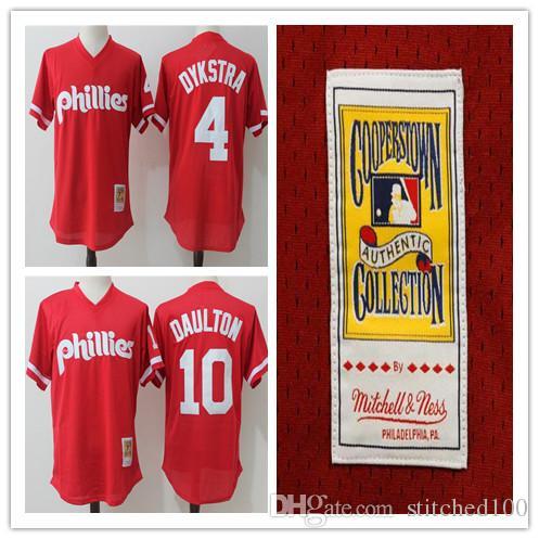 2b261db7e ... 2017 Mitchell Ness Lenny Dykstra Darren Daulton Baseball Jerseys Philadelphia  Phillies Cooperstown Collection Mesh Batting Practice .