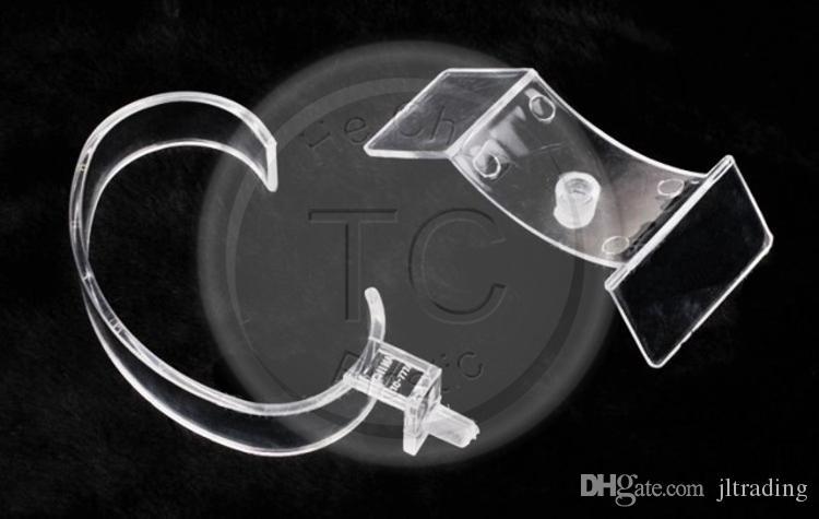Оптовая продажа 100 шт./лот ювелирные изделия стенд прозрачный акриловый Симпатичные часы дисплей стойки воротник часы держатель стенд часы Box Бесплатная доставка