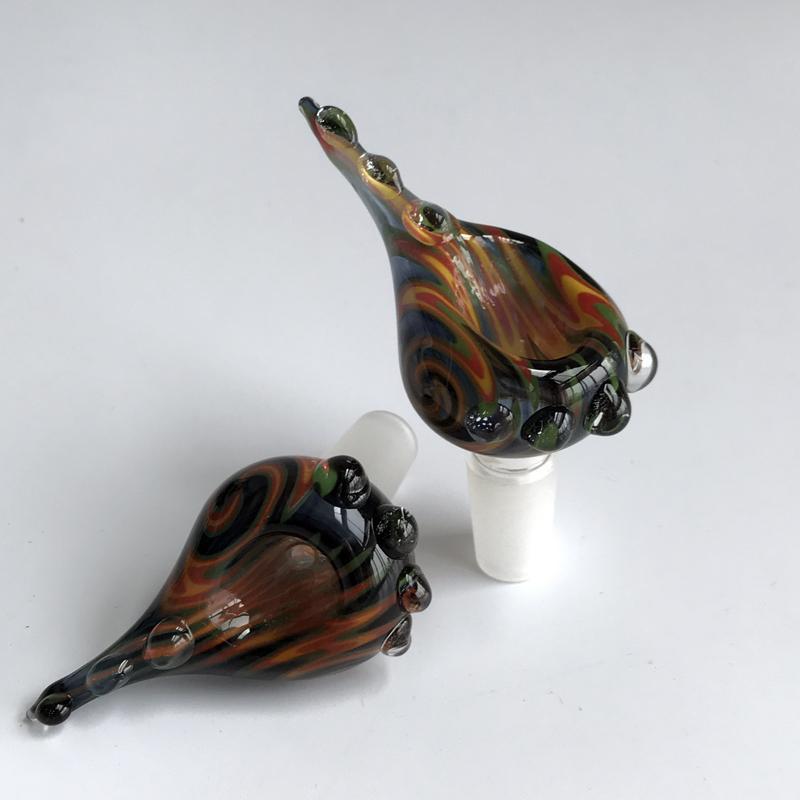 색상 유리 허브 그릇 14 / 18mm 유리 봉 비 커 석유 장비에 대 한 높은 quanlity 무료 배송