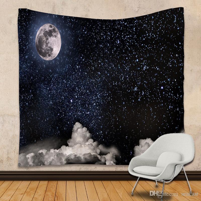 Galaxy Tapestry Stars Universe Decorativo da parete Tapestry 3D Printed Room Dorm Arazzo 180 X 230cm Yoga Mat Picnic Blanket