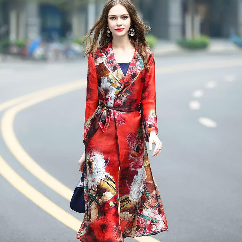 2017 Autumn The New Premium Brand Ladies Silk Coat Organza Satin Printed  Outer Coat Sun Protective Clothing UK 2019 From Delicatyoung888 94b541e7b0